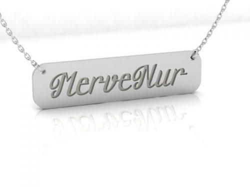 İsimli gümüş kolye
