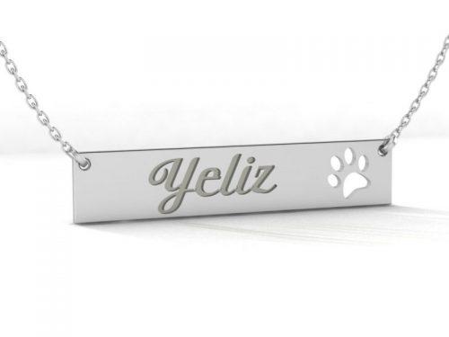 Patili isimli gümüş kolye