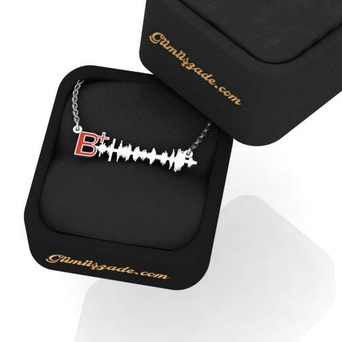 Kan Grubu B+ Ses Dalgası Kolye
