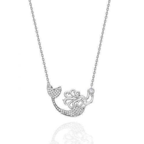 Deniz Kızı Gümüş Kolye