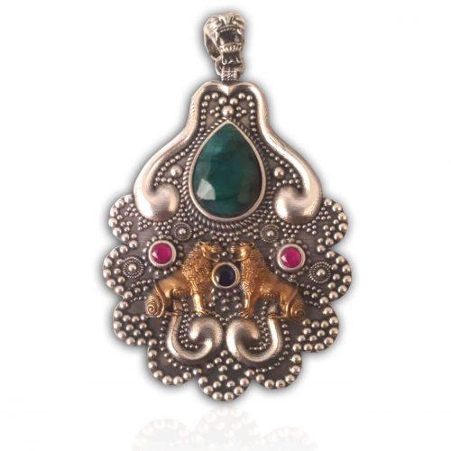 Urartu Aslan Gümüş Kolye