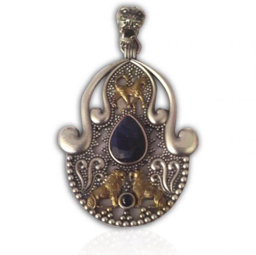 Urartu Boğa Aslan Gümüş Kolye