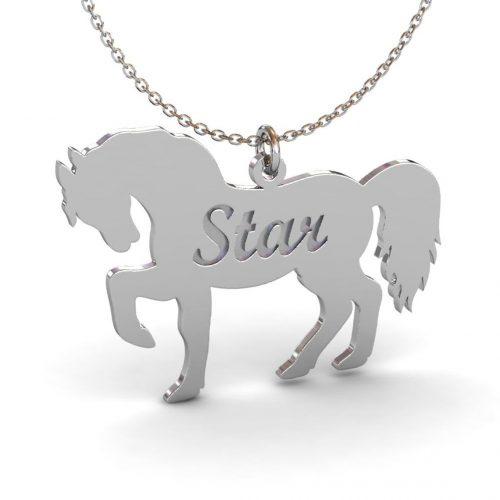 At motifli İsimli Kolye